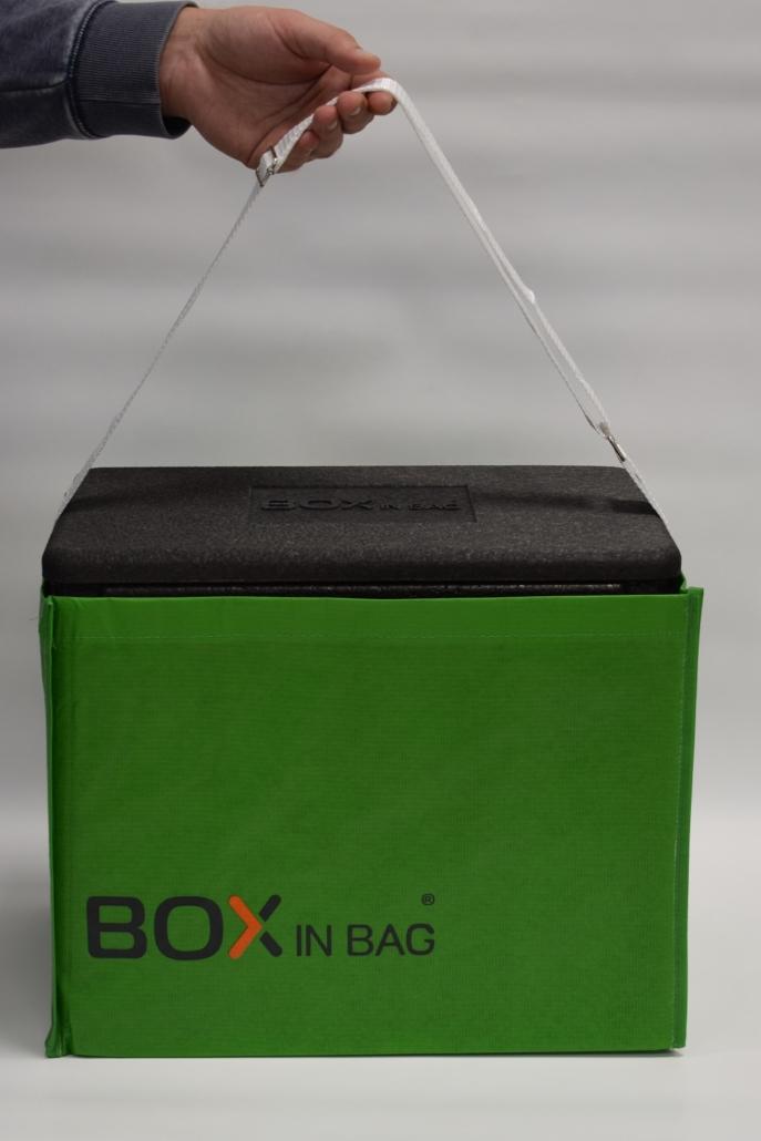 Box in Bag (grün) Anwendung