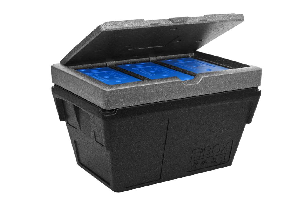 E-Food Box konisch mit Eisdeckel offen