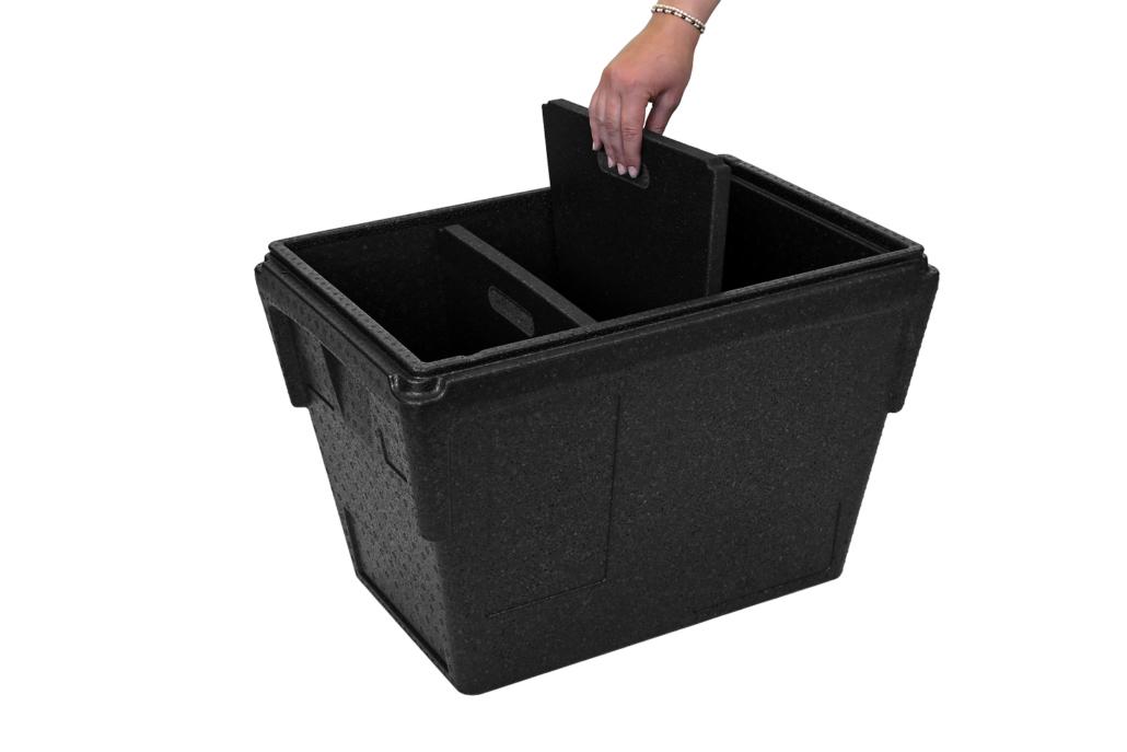 E-Food Box konisch mit Trennsteg