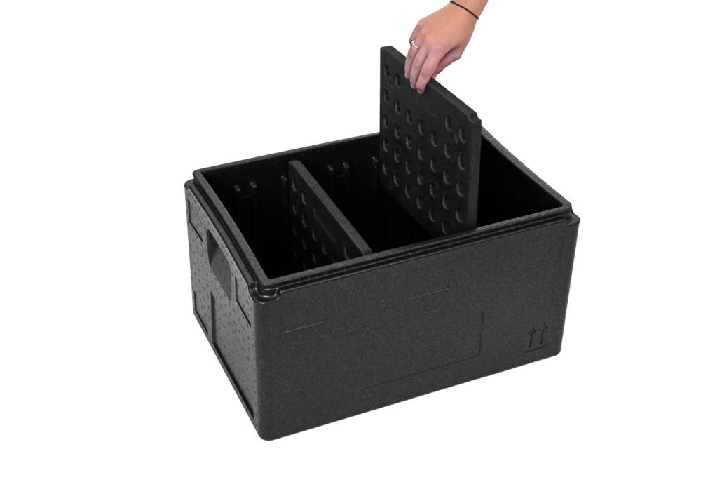 E-Food Box rechteckig mit Trennsteg