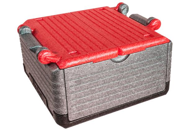 Flip-Box mit rotem Deckel